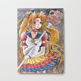 Eternal Sailor Moon Ready for a Battle Metal Print