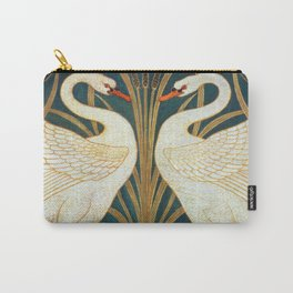 Walter Crane Swan, Rush And Iris Carry-All Pouch