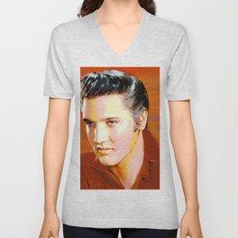 Elvis I Red Unisex V-Neck