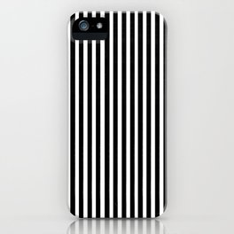Home Decor Striped Black and White iPhone Case