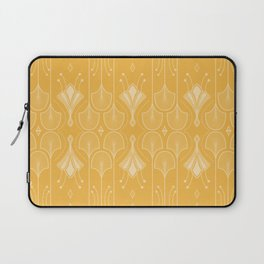 Lily Lake - Retro Floral Pattern Curry Laptop Sleeve
