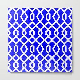 Grille No. 3 -- Blue Metal Print