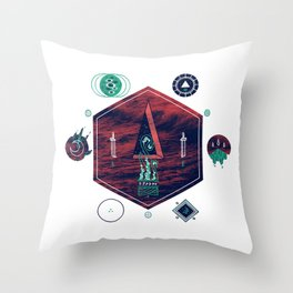 It fell from the stars, It rose from the sea Throw Pillow
