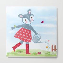 Little Mouse Fleurielle Metal Print