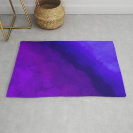 Deep Dark Abyss - Ultra Violet Ombre Abstract Rug