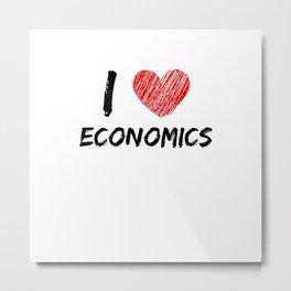 I Love Economics Metal Print