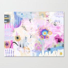 AUD-39 Shy pastel color  Flower  Canvas Print