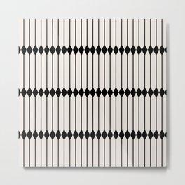 Minimal Geometric Pattern - Black Metal Print