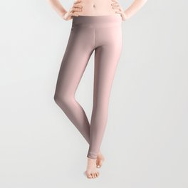 Pretty Pale Pink - Solid Color Trend - Mid-Century Modern Leggings