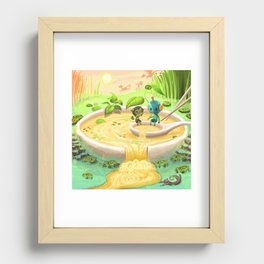 What the Pho Recessed Framed Print