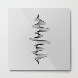 Abstract 80s Soundwave Art Music Audio black and white Musical design home wall bedroom decor Art Pr Metal Print