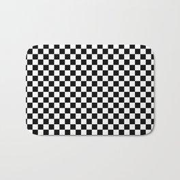 Classic Black and White Race Check Checkered Geometric Win Badematte
