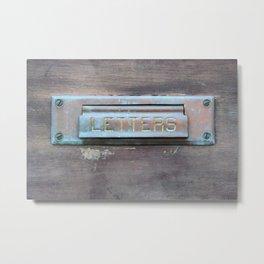 Letter Slot Metal Print