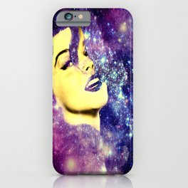 Baby, You're A Star : Purple Blue Galaxy iPhone Case