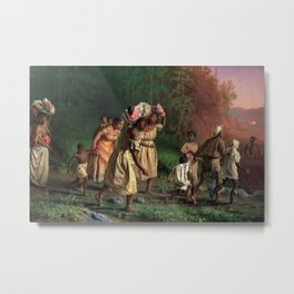 African American Masterpiece 'Emancipation or On to Liberty' by Theodor Kaufmann Metal Print