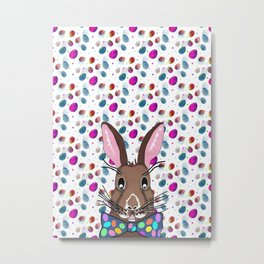 Easter Bunny Easter Eggs Metal Print