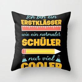 Cool First Grader Shirt, Back To School,Schoolkids Throw Pillow