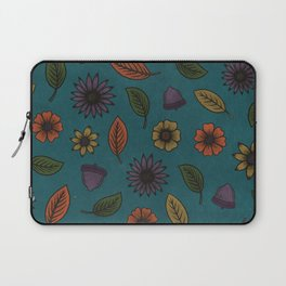 Fall Floral Pattern (TEAL) Laptop Sleeve