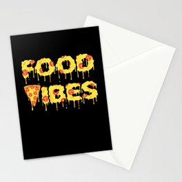 Good Vibes Pizza Cheesy Pepperoni Tee Stationery Cards