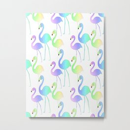 Flamingo Walk Metal Print