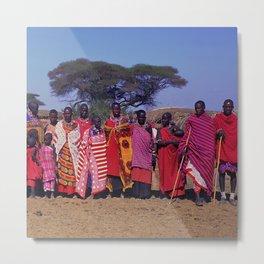 Sweet Welcome to a Massai Village - Kenya, Africa Metal Print