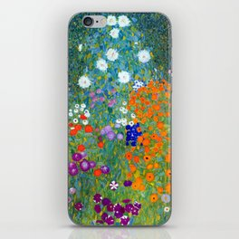 Gustav Klimt Flower Garden iPhone Skin
