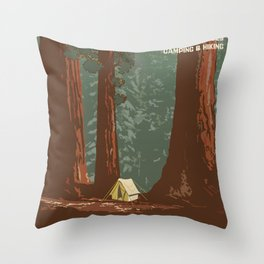 Vintage poster - Sequoia National ParkX Throw Pillow