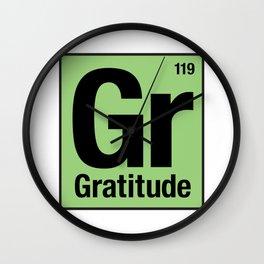 Gratitude Periodic Table 2 Wall Clock