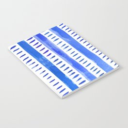 Watercolor lines - blue Notebook