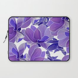Modern hand painted lilac lavender watercolor floral Laptop Sleeve