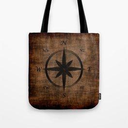 Nostalgic Old Compass Rose Tote Bag