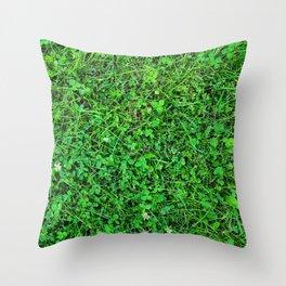 Grass carpet Throw Pillow