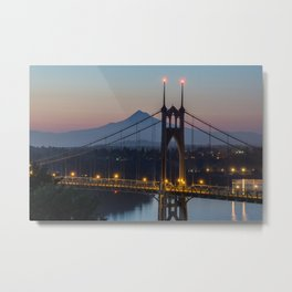 Mornings at St. Johns Bridge Metal Print
