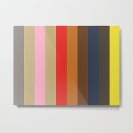 GENEROSITY: (G)rey (E)cru (N)adeshiko Pink (E)cru (R)ed (O)chre (S)epia (I)ndigo (T)aupe (Y)ellow Metal Print
