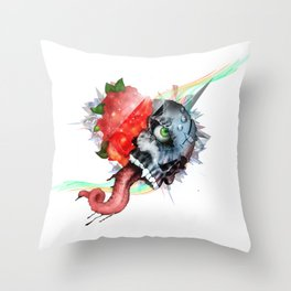 Skull - You Can Be So Blind to What's in Front of You, Eyes Open Throw Pillow