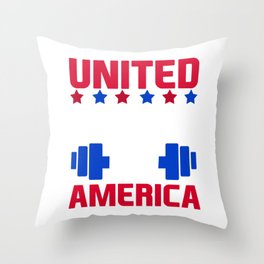 United Squats Of America graphic for a Gym Workout Lover Throw Pillow