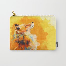 Blissful Light - Fox portrait Carry-All Pouch