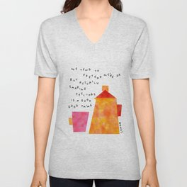 Our Feelings Are Valid - Mental Health Self-Love Illustration Tea Pot Coffee Cup  Unisex V-Neck