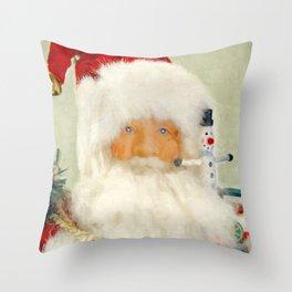 St Nick Throw Pillow