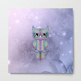 Wonderful colorful mandala owl Metal Print