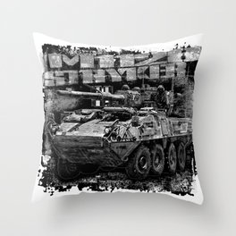 M1128 Stryker Mobile Gun System Throw Pillow