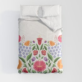 Hungarian folk pattern – Kalocsa embroidery flowers Comforters