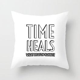 TIME HEALS WHAT REASON CANNOT - SENECA STOIC QUOTES Throw Pillow