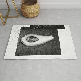 Black and White Avocado Rug