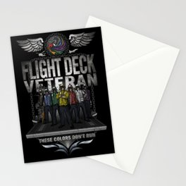 """Flight Deck Veteran """"These Colors Don't Run"""" Stationery Cards"""