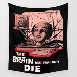 The Brain That Wouldn't Die, 1962 Horror Movie Wall Tapestry