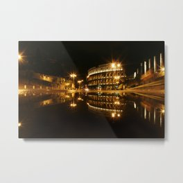 Colosseum reflection at night Metal Print