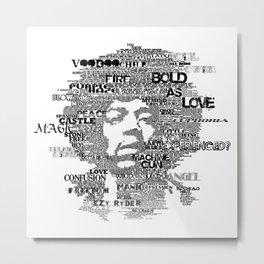 Hendrix B&W Metal Print