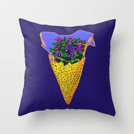 Shark Tooth Terrarium 5 Throw Pillow
