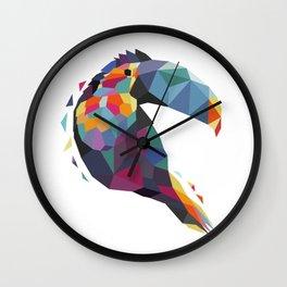 Tucan Geometric Color Wall Clock